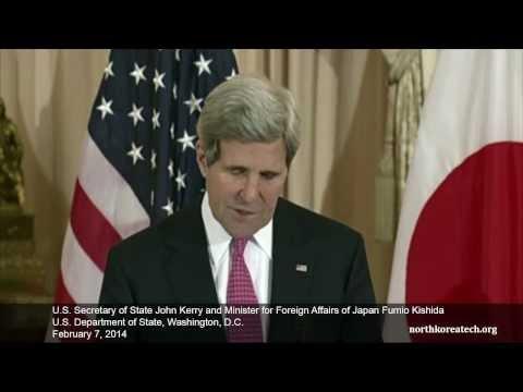 John Kerry and Fumio Kishida remarks at State Dept.