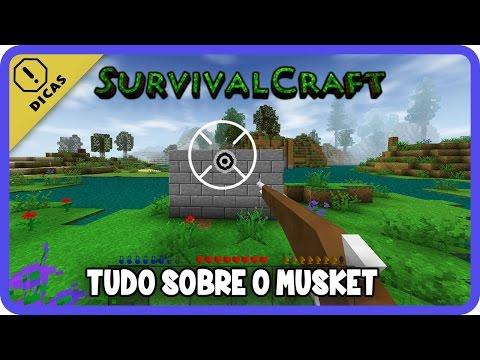 Survivalcraft #07 - Tudo sobre a Arma / Musket e como fazer pólvora