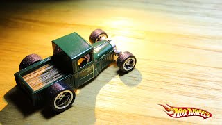 "HOW TO : Wood bed on 29 Ford Pickup ""not so"" Custom diecast Hotwheels. Wheelswap on Weekend"