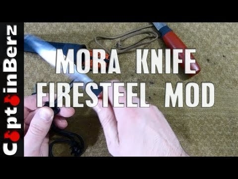 FireSteel Knife Spine Mod (Cody Lundin's Mora, etc.)