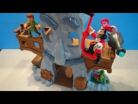 HOOK'S ADVENTURE ROCK PLAYSET FROM JAKE AND THE NEVERLAND PIRATES VIDEO REVIEW