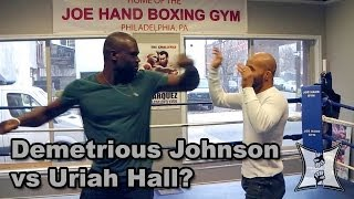 UFC Champ Demetrious Johnson + Uriah Hall Get In The Ring Together for FOX Morning Show