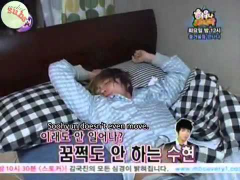 [Eng Subs] U-kiss sleep and wake up time  (1).mp4