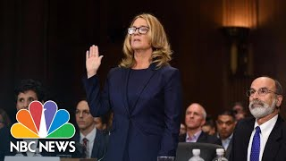 'I Believed He Was Going To Rape Me': Watch Dr. Christine Ford's Full Opening Statement | NBC News
