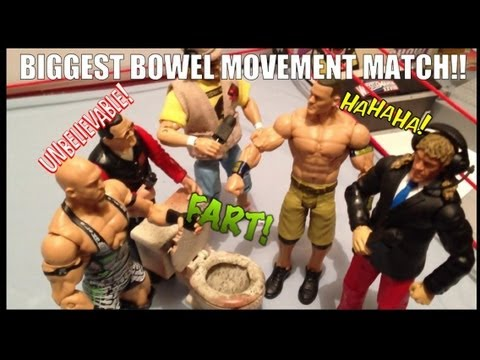 GTS WRESTLING: Poop on a Pole figure matches WWE parody Mattel Elite figures animation