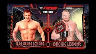 Salman Khan vs Brock Lesnar - 1-vs-1-Match WWE 2K16