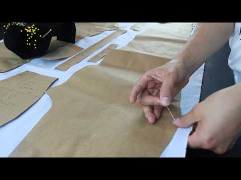 LESSON 1- Making a pants- How to cut the fabrics properly