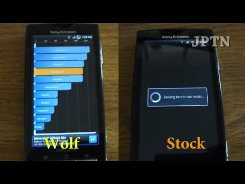 Xperia X10 Gingerbread v2.3.3 Benchmark Comparisons (Wolf vs. Stock)