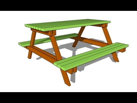 Free Octagon Picnic Table Plans With Umbrella Hole | www.woodworking ...