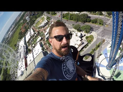 Riding 450 Foot Tall Swings At Starflyer Orlando On IDrive! | World's Tallest Swing Ride!