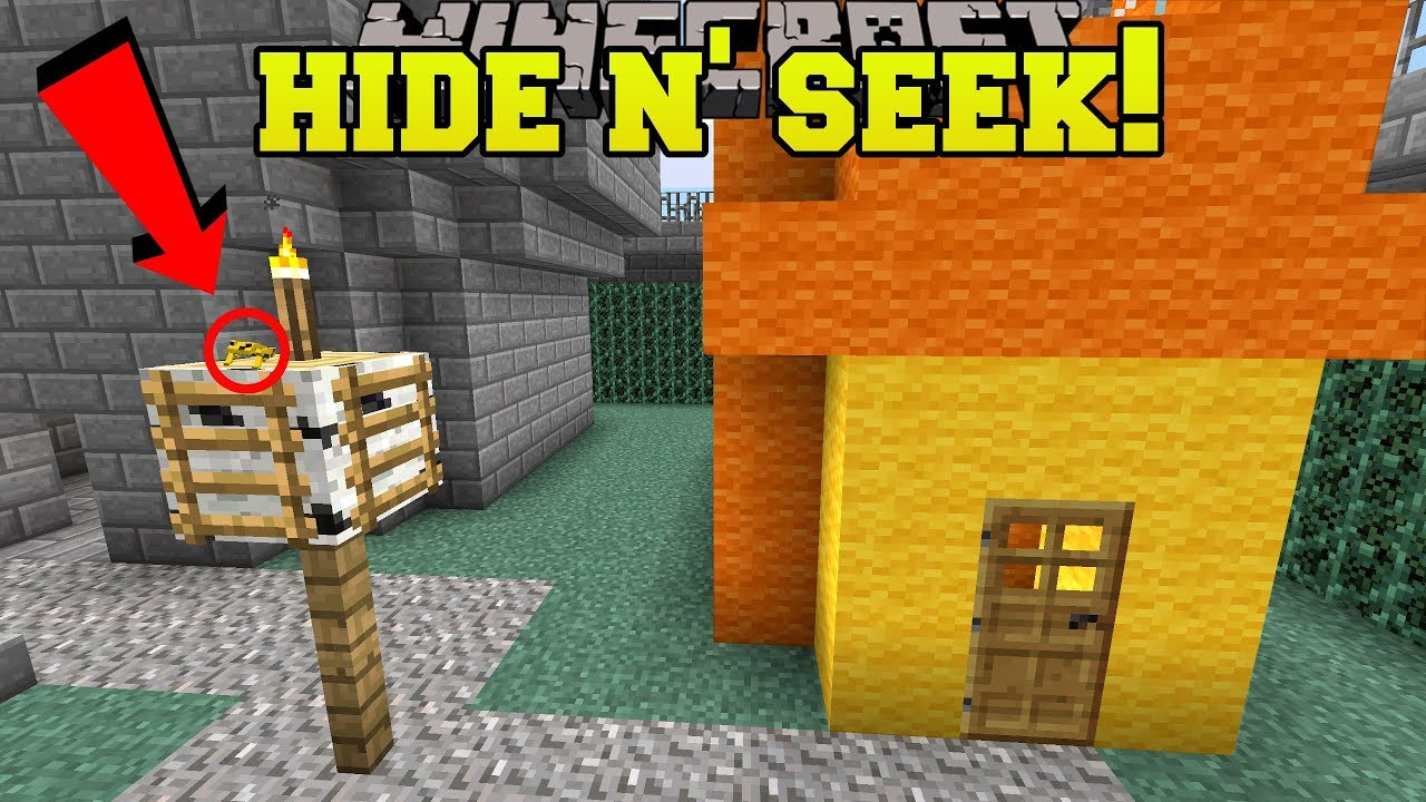 Minecraft: TINY FROGS HIDE AND SEEK!! - Morph Hide And Seek - Modded Mini-Game