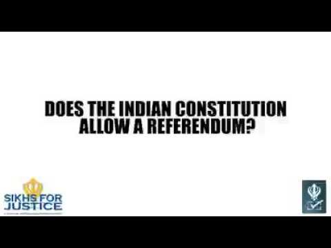 Does the Indian Constitution Allow A Referendum? | Khalistan Movement 2016