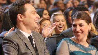 Jim Parsons and Mayim Bialik (Sheldon and Amy)