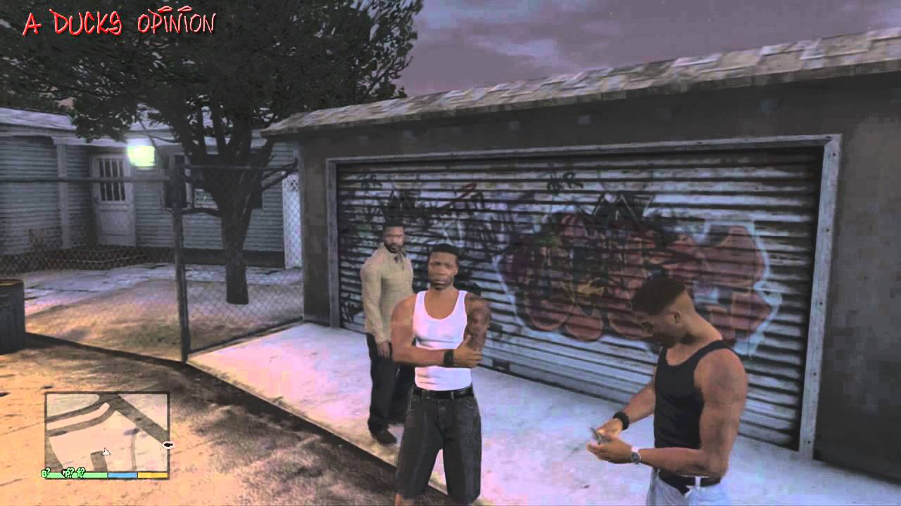 Grand Theft Auto V Cj From Gta San Andreas In Gta 5 Grove Street Easter Egg YouTube