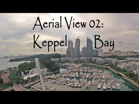 Aerial View 02: Singapore features Merlion Park and Keppel Bay