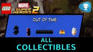 Lego Marvel Super Heroes 2 - ALL MINIKITS, STAN LEE, CHARACTER TOKEN Locations, LEVEL 20 Out of Time