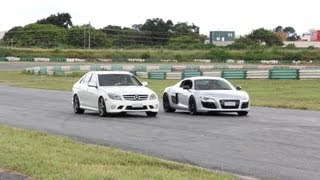 Audi R8 vs Mercedes-Benz C63 AMG