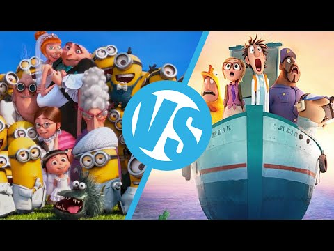 Despicable Me 2 VS Cloudy with a Chance of Meatballs 2 : Movie Feuds ep88