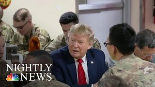 Trump Surprises Troops In Afghanistan On Thanksgiving | NBC Nightly News