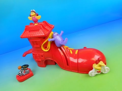 1999 RONALD McDONALD'S SHOE SET OF 4 HAPPY MEAL KID'S TOY'S VIDEO REVIEW (IMPORT)