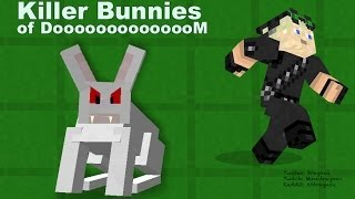 Fluffy Night time Rabbits of DOOOMM in Minecraft 1.8