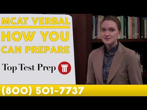 MCAT Verbal - How to Prep - TopTestPrep.com