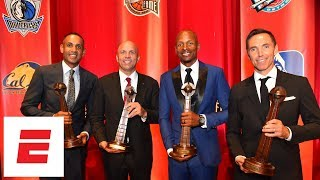 Steve Nash, Ray Allen and Jason Kidd deliver funny moments during their Hall of Fame speeches | ESPN