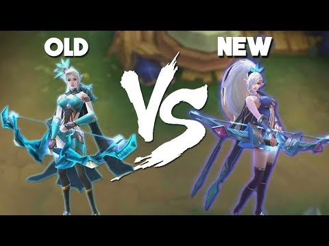 Mobile Legends Miya Remake vs Original Skin (New vs Old)
