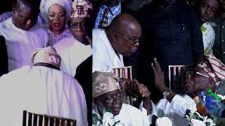 BOLA TINUBU FINALLY BOW DOWN TO GREET OBASANJO @ CHIEF RASAK OKOYA 80TH BIRTHDAY