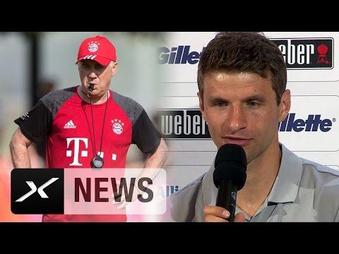 So lief Thomas Müllers erstes Treffen mit Carlo Ancelotti | Neuer Trainer beim FC Bayern München