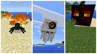 ✔ Secret 0.11.0 Mobs: Ghasts, Magma Cubes and Cave Spiders! - Minecraft PE