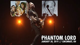 Metallica Phantom Lord Cincinnati Oh January 30 2019