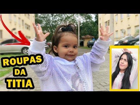 VESTINDO AS ROUPAS DA JAQUELINE SOBRINHO SEM ELA SABER!!!   - Primeira vez