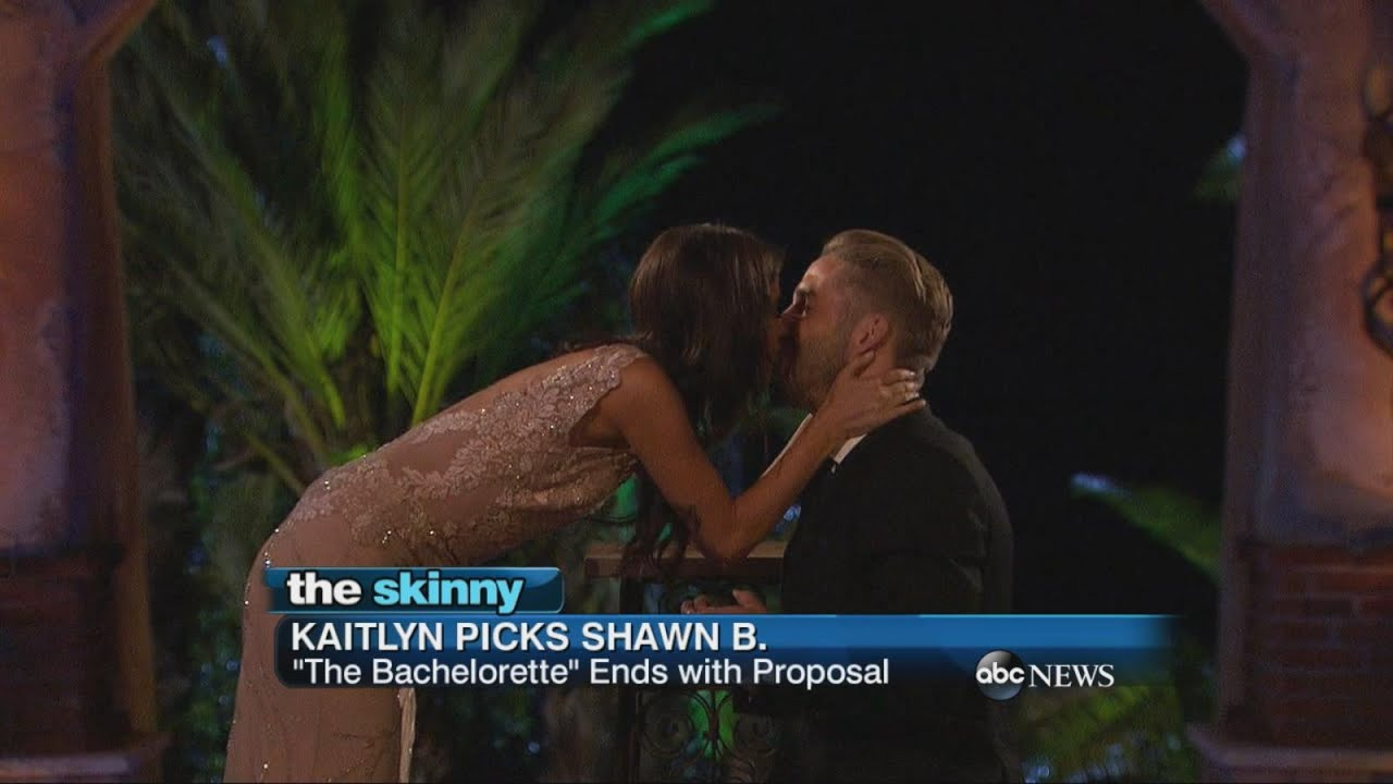 "Season Finale of ""The Bachelorette"" Ends with a Proposal"