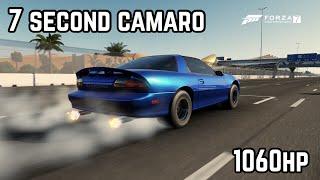 Forza 7|| 7 Second 1060hp Camaro Drag Build. Tune + Upgrades. (1/4 Mile)