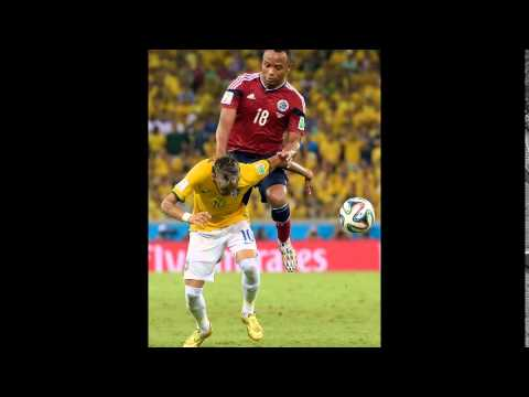 WORLD CUP 2014 : Brazil's Player NEYMAR Injured and Out of World Cup Games (July 4, 2014)