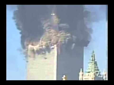 9/11 Close Up of N-E Corner Explosion (Squib) on WTC 2