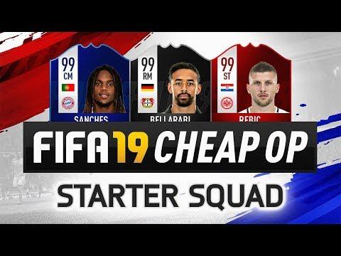 FUT 19 CHEAP OP STARTER TEAM! - FIFA 19 Ultimate Team Squad Builder
