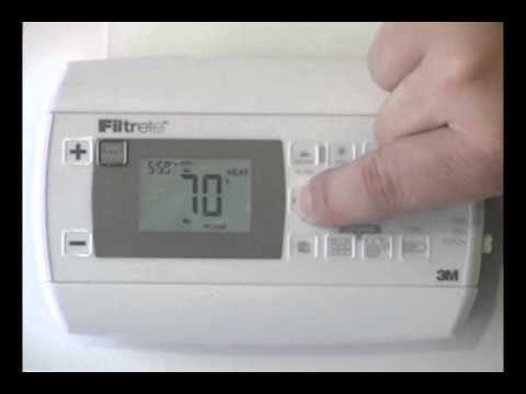 How to program the Filtrete 3M22 thermostat