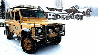 Overland Canada in winter. From Vancouver to Whitehorse - Part 2. Land Rover Defender.