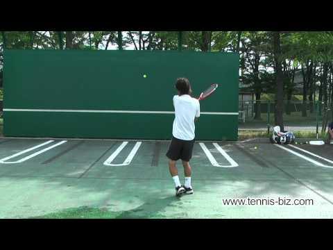 テニス壁打ち 花木俊介3