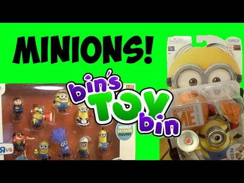 Build-a-minion Fireman lucy & Despicable Me Mini Figures Set Review! By Bin's Toy Bin video