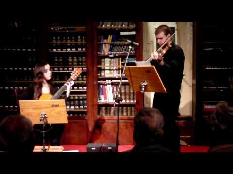 Niccolo Paganini - Cantabile para violín y guitarra