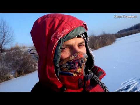 Щука на жерлицы первый лед рыбалка Днепр