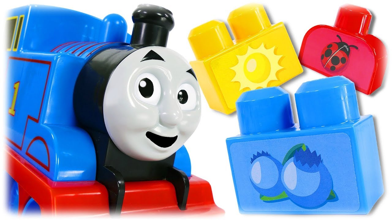 Thomas Teatcher #1 Learn Colors and Words with Thomas the Train, MEGA BLOCKS Match My Colors