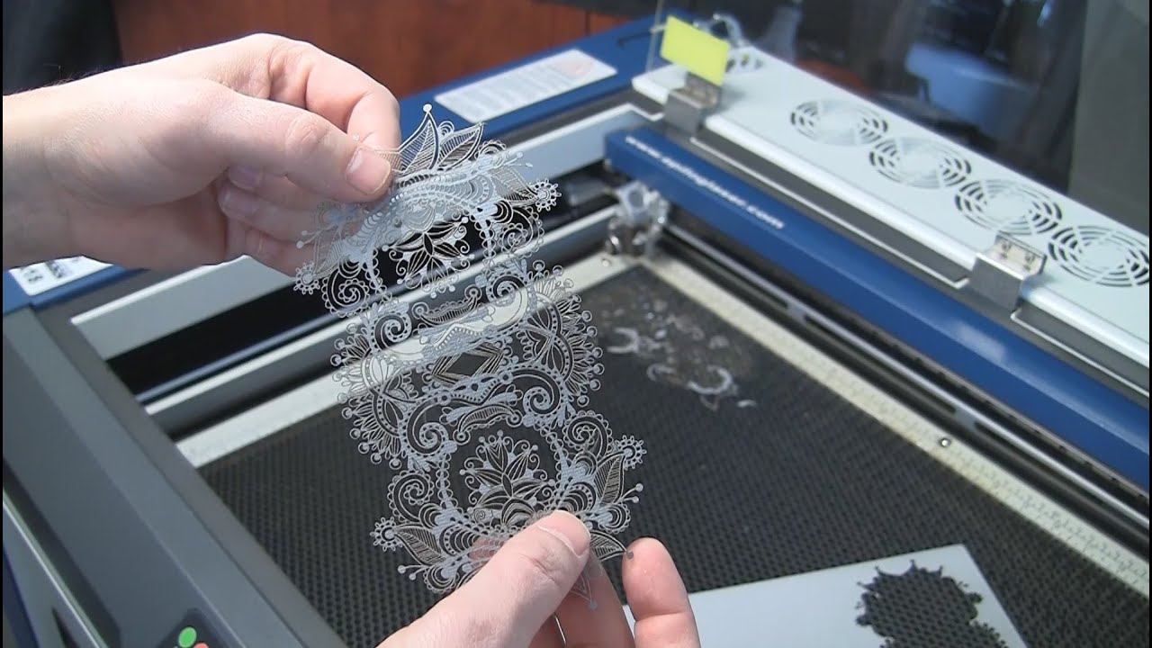 Laser Cut Paper Intricate Lace Pattern With An Epilog