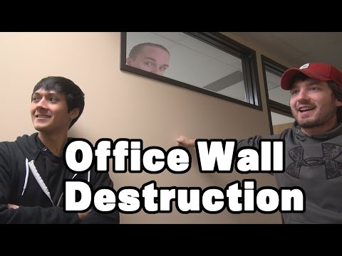 Office Wall Destruction