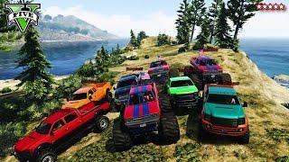 GTA 5 Next Gen: The Big Fat JUMPS w/ The CREW - GTA V AMAZING Races & Funny Moments