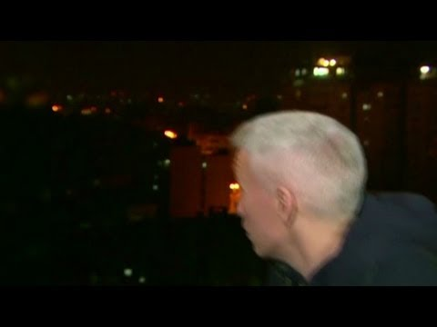 Bomb explodes near Anderson Cooper during live report from Gaza