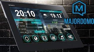 Умный дом MajorDoMo и анимированная сцена для планшета